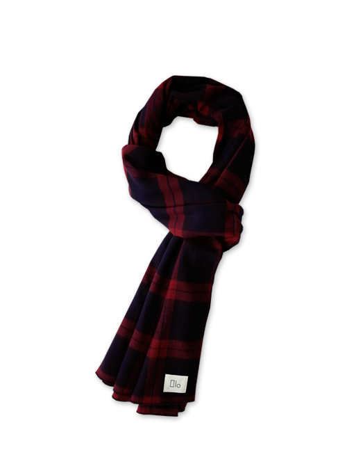 [40% OFF] EASY PLAID MUFFLER (WINE)