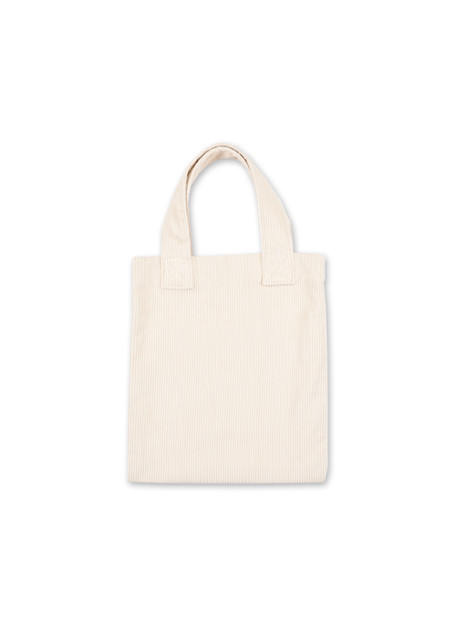 [30% OFF] CORDUROY TOTE BAG (CREAM)