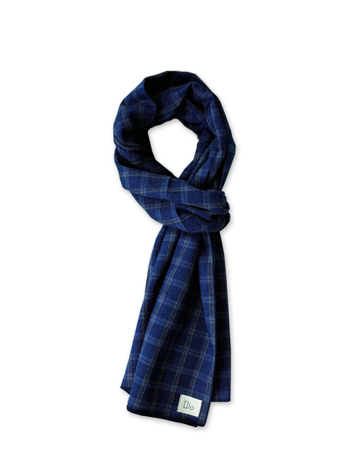 [40% OFF] EASY PLAID MUFFLER (BLUE)