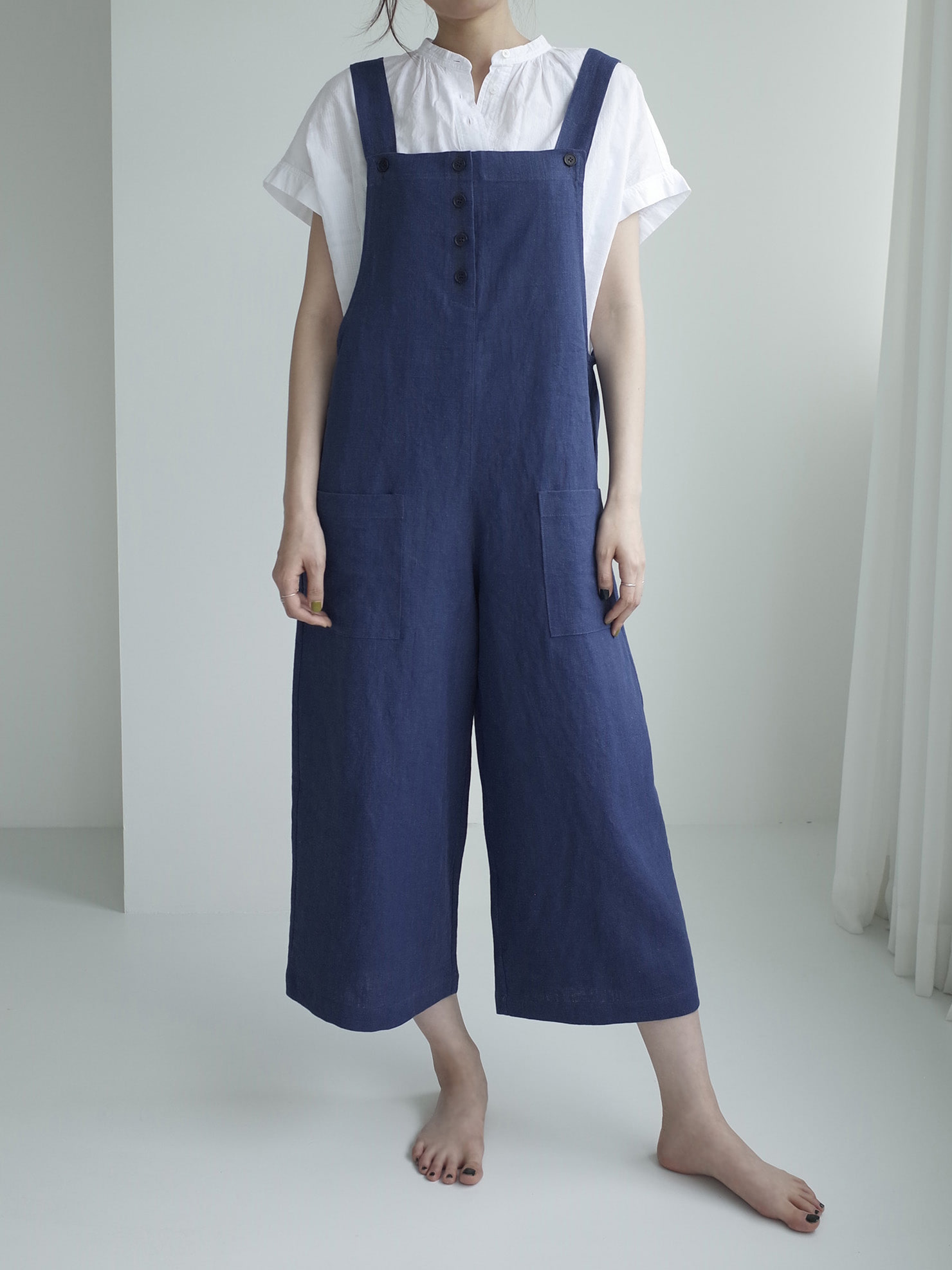 [B GRADE] EASY JUMPSUIT (NAVY)