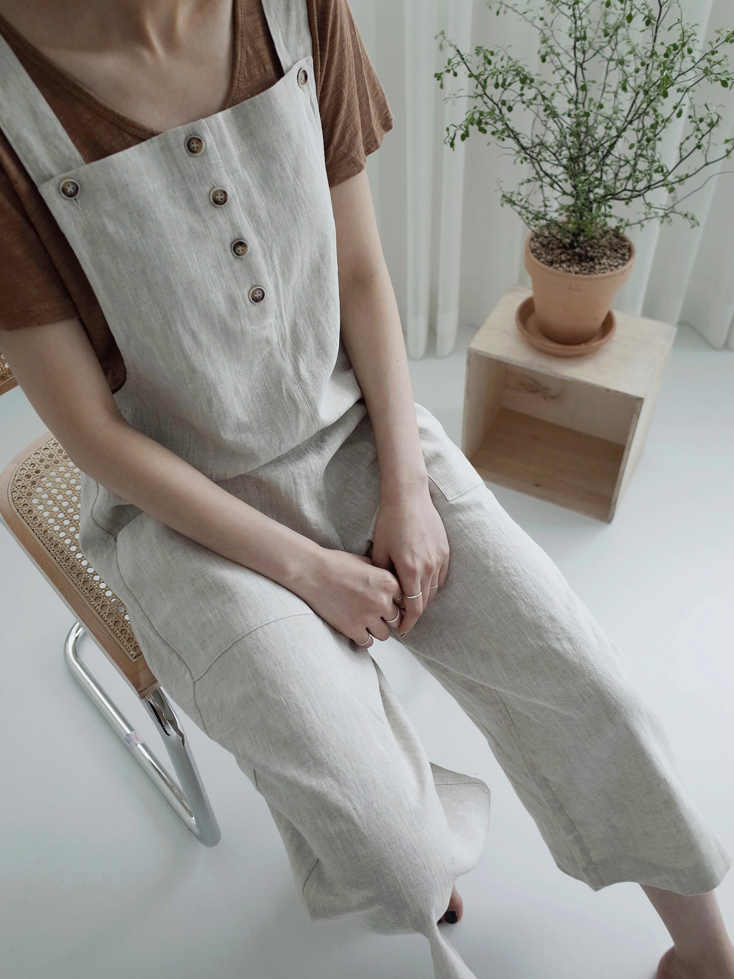 [15% OFF] EASY JUMPSUIT (OATMEAL)